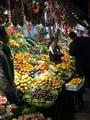 Fruit stall at night