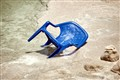 Dying chair in the Dead Sea