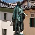 Titian's Statue in Pieve di Cadore, Italy