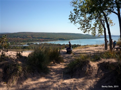 DH Atop Sleeping Bear Dune, Michigan