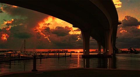 SunsetUnderClearwaterBridge