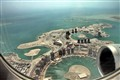 Aerial view of Porto Arabia and Viva Centrale