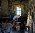 Blacksmith Making Chain