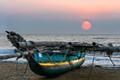 Outrigger boat in Sri Lanka