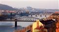 View from Vysehrad - Vltava river, Prague castle