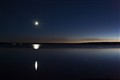 Moon over Yellowstone Lake