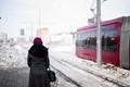 Tramway, leaving Kazan, Tatarstan.