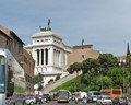 The street leading to Monument of Victor Emmanuel II