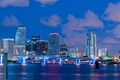 miami pre dawn skyline from watson island