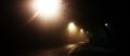 Foggy London road