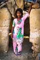 Girl in desert village, Rajasthan