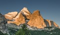 A new day on Gran Vernel mountain, Dolomites, Italy