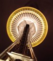 from below Seattle Needle at night
