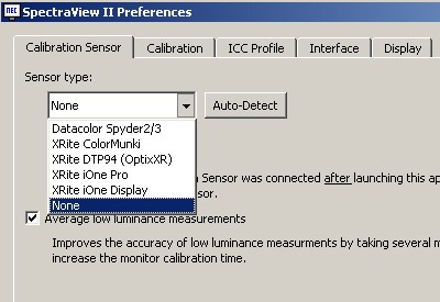 Spectraview Device Choices
