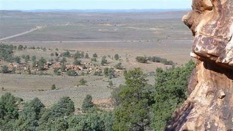 View from Yourumbillie Caves Flinders Ranges Sth Aust