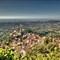 View towards Rocca Di Papa, Grottaferrata and Rome