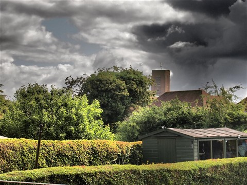 Guildford cathedral from my back garden