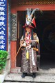 Naxi villager in ethnic clothing. Lijiang, S.W. China