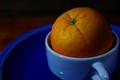 orange in cup