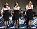 Performing with the RAF Swing Wing Band at the RAF Waddington Airshow in 2010.