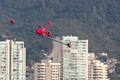 Red Learjet over Acapulco 1