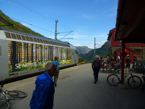 railway station, at Mydahl, Norway