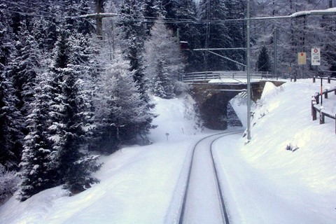 Preda train bridge, sled run