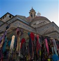 Juxtaposed Colour and Sentiment, Cheap Shawls and Churches