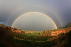 Double Rainbow; Abiquiu, NM, USA.