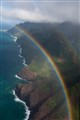 Kaui Rainbow over Napali Coast