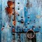 rusted blue