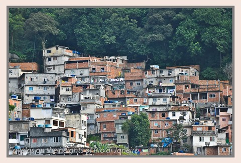 Favelas on the heights of Rio di Janeiro