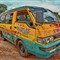 Van in Ghana colors 2