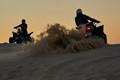 Sunset dune bashing