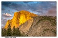 Golden Half Dome at Sunset