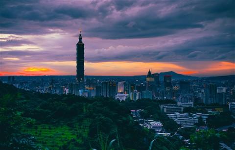Sunset in Taipei area