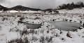 Snow and tarns