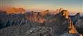 Sunset Lit Dolomite Rocks, Rif. Nuvolau, Italy
