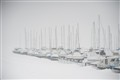 boats in winter Yankton