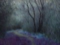Hue modification and intentional camera movement by using built-in ND filter to accentuate the falling rain