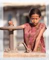 Poor Girl - Playing in Massawa, Eritrea