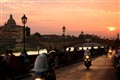 Vespas at Sunset