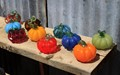Glass pumpkins at a glass-work foundry in Jerome, Arizona, USA.