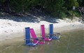 Empty Chairs on an Empty Beach