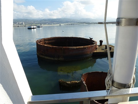 Turret ring USS Arizona from the memorial