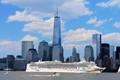Norwegian Cruise Line Passing by New York City Harbor
