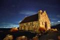 Church of the Good Shepherd in starry night