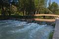 Footbridge, River Neira, Lugo, Spain