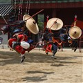 Korean martial artists. Hwaseong fortress