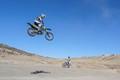 jumping his shadow
